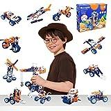 KidMigo Educational STEM Building Toys - 152 Pcs to Make 12+ Models - for Kids Ages 6+, Supports Cognitive Development, Fine Motor Skills, Problem Solving Abilities