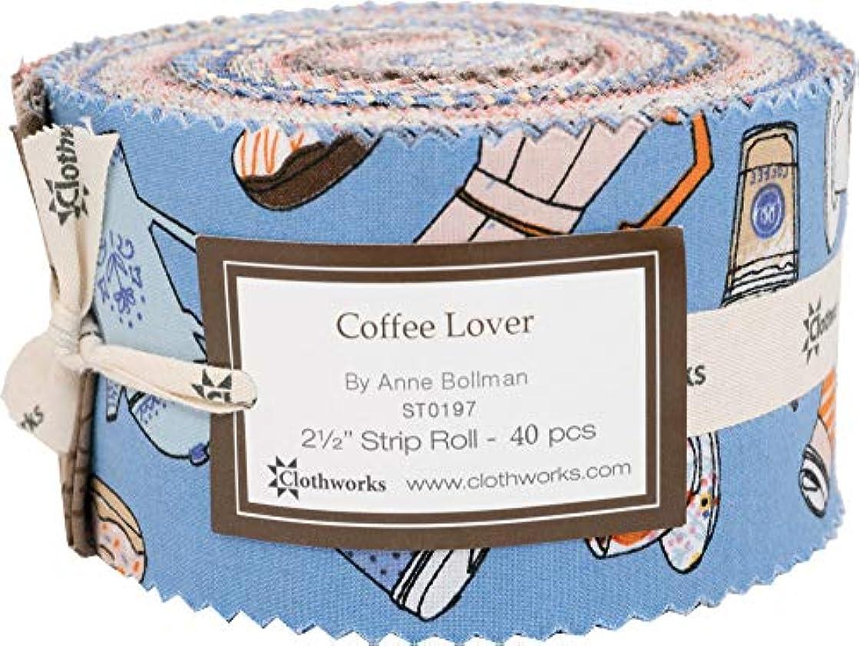 Anne Bollman Coffee Lover Strip Roll 40 2.5-inch Strips Jelly Roll Clothworks