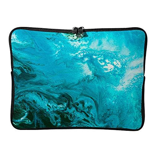 Standard Marmor Textur Laptoptaschen Wasserdicht Gemustert Moderne Kunst Laptop-Aktentasche Geeignet für Pendler White 10 Zoll