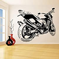 Ronronner オートバイのウォールステッカーバイクバイカーボーイズ寝室の装飾壁デカールモトクロスエクストリームスピードスポーツ壁の装飾ポスター64×57センチ
