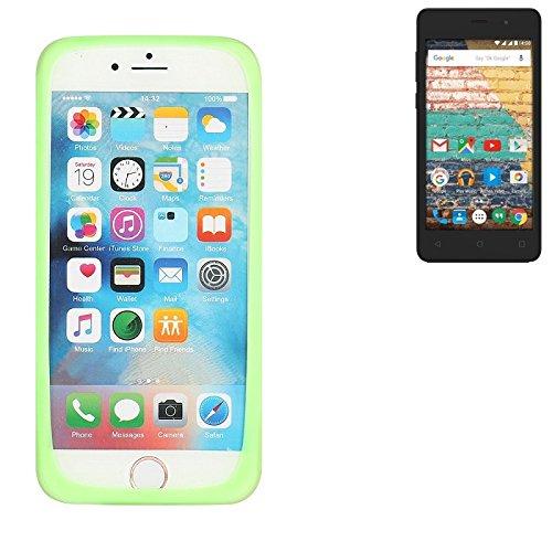 K-S-Trade Für Archos 45b Neon Silikonbumper/Bumper aus TPU, Grün Schutzrahmen Schutzring Smartphone Case Hülle Schutzhülle für Archos 45b Neon