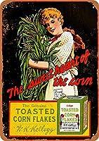 Kellogg'S Toasted Corn Flakes ティンサイン ポスター ン サイン プレート ブリキ看板 ホーム バーために