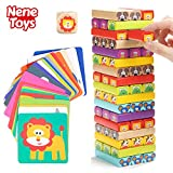Nene Toys - Torre Magica Colorata in Legno con Animali – Gioco Educativo da Tavolo per B...