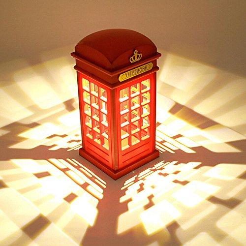 Panel USB Toch Londres Teléfono, cabina de noche, luz LED, lámpara de mesa