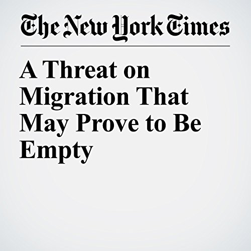 A Threat on Migration That May Prove to Be Empty audiobook cover art