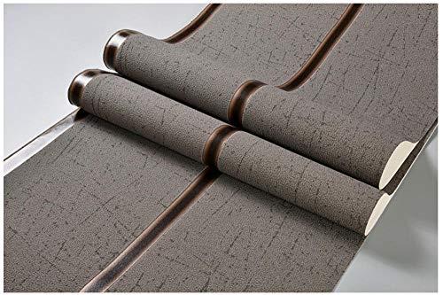 Modern Tapete 3D geprägtes Wildleder mit breitem Streifen braun vliestapete Für schlafzimmer wohnzimmer TV flur kinderzimmer mauer ornament 0.53 x 9.5m/roll