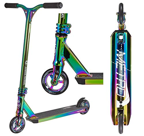 Longway Metro Stunt-Scooter H=79cm Trick Park Tret-Roller + Fantic26 Sticker (Full Neochrome Rainbow)
