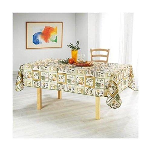 Arte Provenzale Tovaglia Antimacchia, No Stiro, 120 cm x 150 cm MOD. OLIVIERA