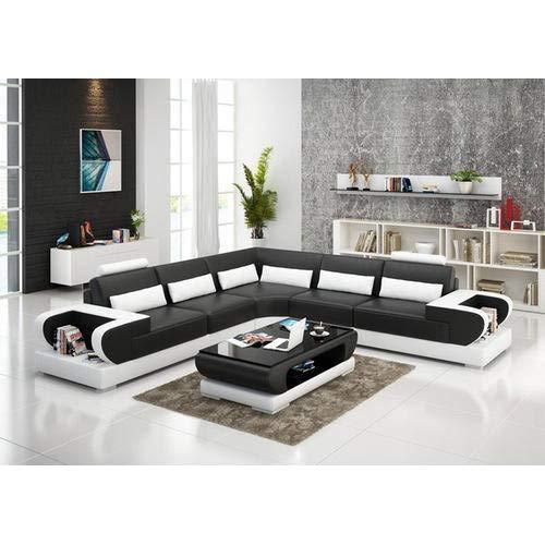 rehmans Living Room Sofa Set (Black and White)