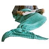 (マーシェル) Marshel マーメイド ブランケット 【 かわいい人魚毛布 】 おしゃれデザイン 防寒 保温 【 洗濯OK 】 グリーン (80×180cm)