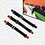 Kungfu Graphics Rear Adjustable Rescue Strap Tugger Pull Strap Rope for Kawsaki Suzuki Dirtbikes Motocross Enduro Supercross Universal, Blue for YZF and WR