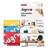 Sugru I000943 Pegamento multiusos moldeable para fijación y fabricación creativa, rojo, azul y amarillo, 3 piezas
