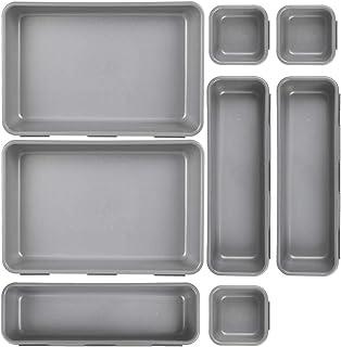 Tiroirs de rangement, Système de rangement de cuisine, Organisateurs de tiroirs, Boîtes à plateau en plastique transparent...