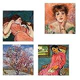 Legendarte CP-07 Quadro Composizione in Rosa, Stampa digitale su tela, Multicolore, cm. 50...
