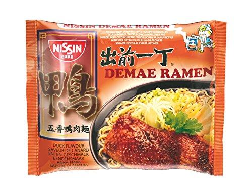 Nissin Demae Ramen – Ente, Einzelpack, Instant-Nudeln japanischer Art, mit Entenfleisch-Geschmack, Knoblauch & asiatischen Gewürzen, schnell & einfach zubereitet, asiatisches Essen (1 x 100 g)