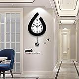 ALLOCK Decorative Modern Pendulum Wall Clock for Living Room Decor,Bedroom,Office(22.6 inch)