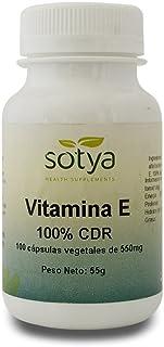 SOTYA - SOTYA Vitamina E 100 cápsulas 550 mg