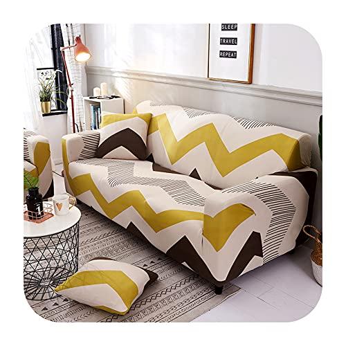 Funda elástica para sofá para sala de estar, antideslizante, elástica, funda de sofá seccional, en forma de L, 1/2/3/4, color 18-1 asiento, 90-140 cm