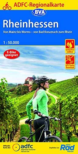 ADFC-Regionalkarte Rheinhessen, 1:50.000, reiß- und wetterfest, GPS-Tracks Download: Von Mainz bis Worms - von Bad Kreuznach zum Rhein (ADFC-Regionalkarte 1:50000)