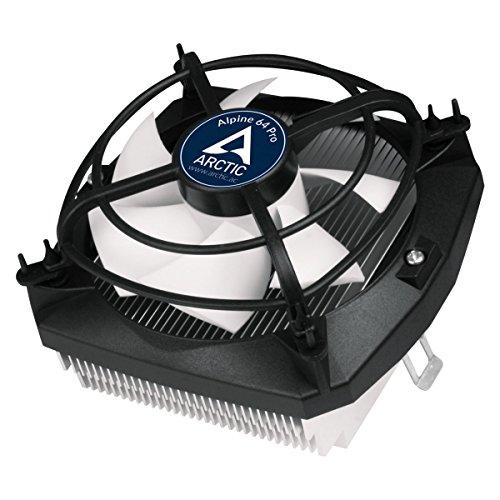 ARCTIC Alpine 64 Pro - Superleiser AMD AM4 CPU Kühler für Mini PCs - durch 92 mm PWM Lüfter bis zu 90 Watt Kühlleistung - Mit voraufgetragener MX-2 Wärmeleitpaste - Einfaches Montagesystem