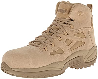 Reebok Work Men's Rapid Response RB8694 Safety Boot,Tan,13 M US