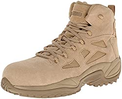 commercial Reebok Work Men's Rapid Response RB8694 Safety Shoes, Tan 11W USA orthotic work boots