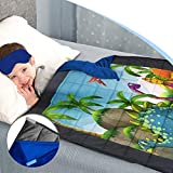 Kids Weighted Blanket Therapeutic 5 lbs (Suitable 4-10 Years) Bonus Minky Grip-on Blanket Free Weighted Eye Mask Beautiful Pictures New Advanced Design