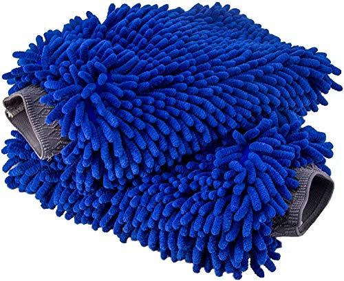 Relentless Drive Ultimate Car Wash Mitt (2 Pack, Extra Large) Premium Chenille Microfiber Lint and Scratch Free Sponge Glove