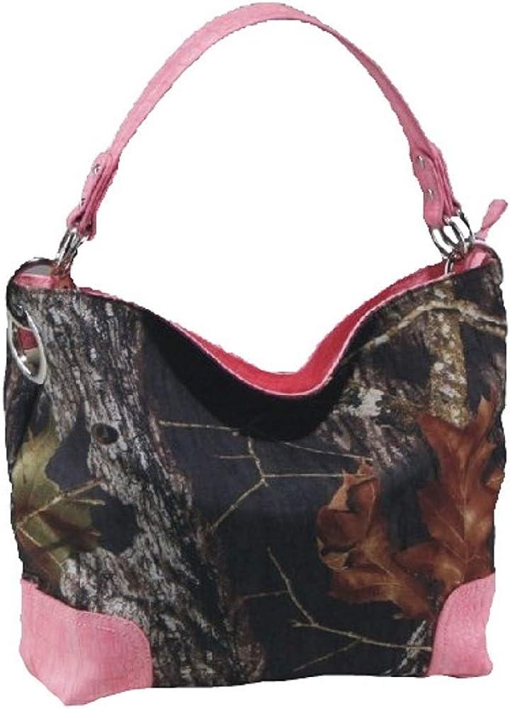 Mossy Oak Licensed Camo Camouflage Western Hobo Tote Purse Handbag