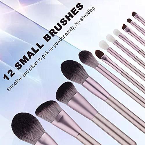 Heoolstranger Ensemble de Pinceaux De Maquillage 12pcs Fibre Foundation Face Powder Brush Set pour Femmes Filles pretty good very well