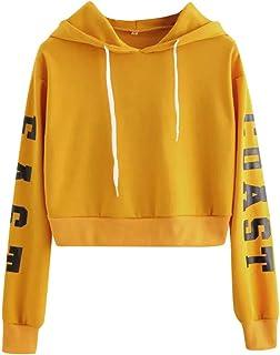 comprar comparacion Sudaderas con Capucha Adolescentes Chicas Patchwork Sudaderas para Mujer Tumblr Emoticon Estampado Blusa Tops Camiseta de ...