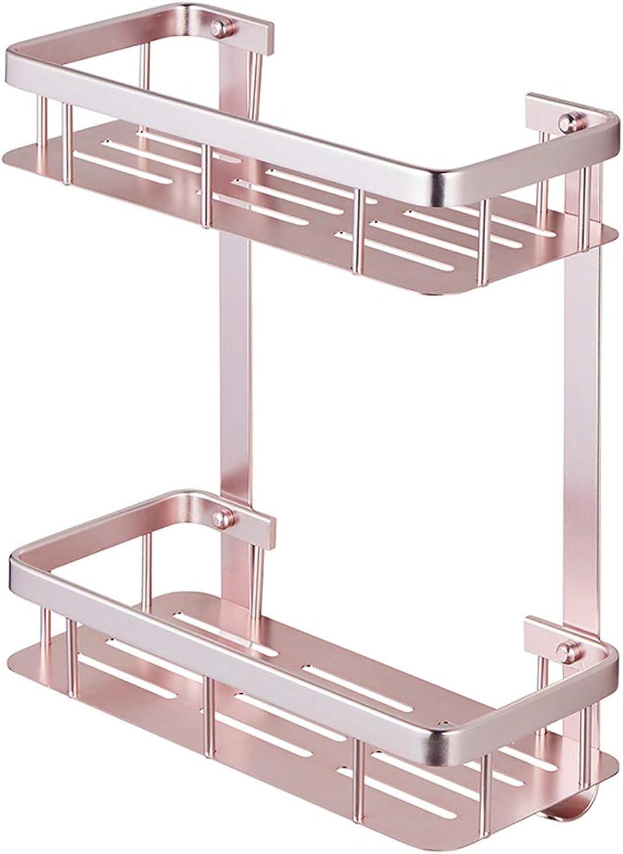 Rack- Bathroom Shelf, Space Aluminum Tripod, Kitchen Storage Rack, Corner Flower Stand, Bearing Strong (color   Pink)