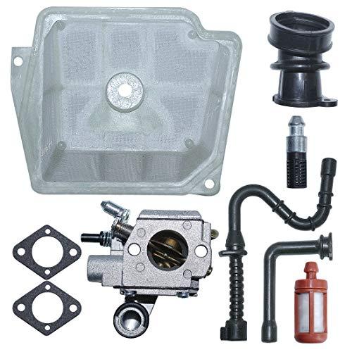 AUMEL C3R-S236 Kit de empaquetadura de carburador para Motosierra Stihl MS361 MS 361 Reemplace # 1135 120 0601 con múltiple de admisión de la línea de Filtro de Combustible de Aire.