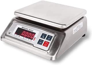 WCX Multifuncional Impermeable Balanzas Sobremesa Acero Inoxidable Pesaje Electrónico Escalas de Precisión con LED Monitor (Size : 15kg/1g)