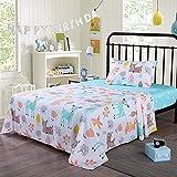 100% Cotton Sheets Kids Twin Sheets for Kids Girls Boys Teens Deer (Twin)