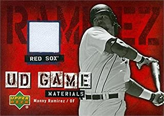 Autograph Warehouse 343406 Manny Ramirez Player Worn Jersey Patch Baseball Card - Boston Red Sox 2006 Upper Deck Game Materials No. UD-MR