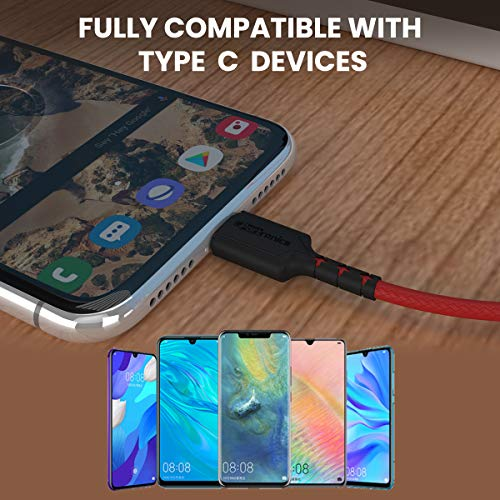 Portronics Konnect Dash Type-C Charging Cable Fast Charging 5.0A with Data Transfer, 1 meter with Leather Finish