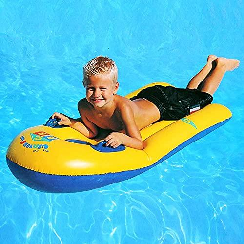 Meijubol Aufblasbares Surfbrett Schwimmendes Bodyboard mit Griff Pool Flöße Reihe Klein Luftmatratze Wellenreiter Boarding Sommer Ozeanbett Schwimmbad Spielzeug Party für Kinder Surfer Anfänger