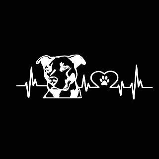 JINQD Home Personalidad Patrón de Amor de Pitbull Calcomanía para el Estilo del Auto Decoración para Ford Mercedes-Benz BMW Volkswagen Passat Audi Diesel Convertible ? Negro (Color : White)