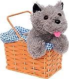 Accesorio para disfraz de perro Kansas para niña, de felpa, color gris