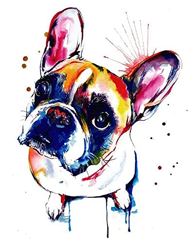 Adults Jigsaw Puzzle 500 Piece Wooden Adults Children Puzzles,French Bulldog Dog Animal,Jigsaw for Active Thinking Party Entertainment,Decompression Toys Gift Family Landscape Decoration