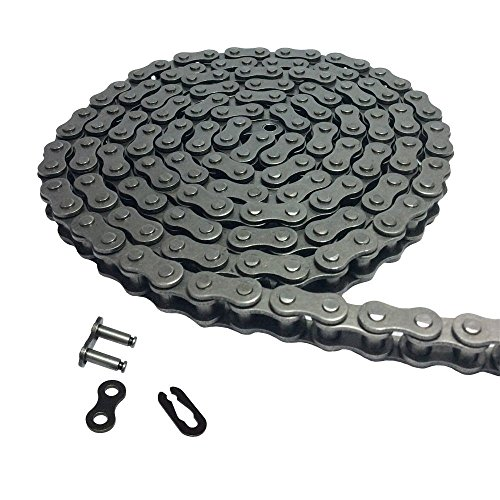 Aobbmok 10 Feet 06C 35 Roller Chain with 1 Connecting Master Link for Go Kart, Mini Bike Chain Replacements