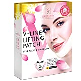 V Line Mask Neck Mask Face Lift V Lifting Chin Up Patch Double Chin Reducer Neck Lift V Up Contour Tightening Firming Moisturizing Сollagen Chin Mask V Shape Face Lifting V Zone Mask Tape (M)
