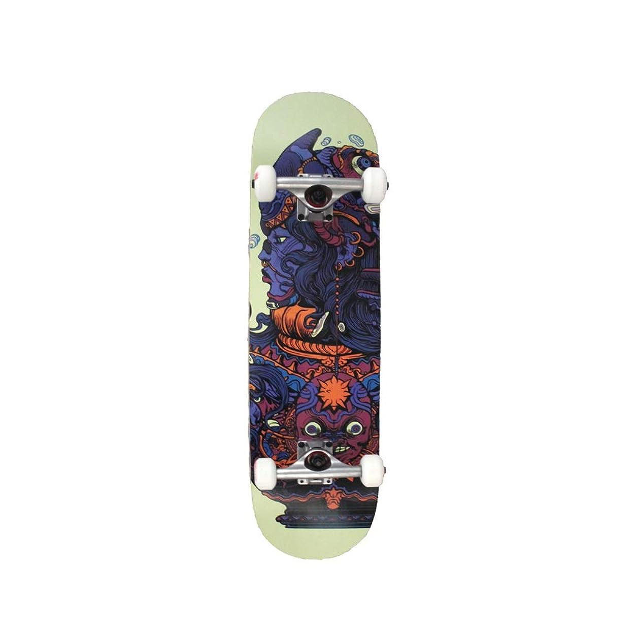 靴下性能加入LIUFS-スケートボード 完全初心者スケートボード子供男の子女の子大人のプロの競争スケートボード31.5インチ - 神の意志