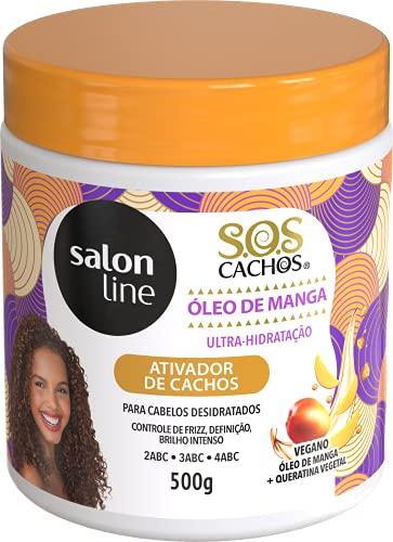 Ativador de Cachos - S.O.S Cachos - Umidificador Pote, 500 gr, Salon Line, Salon Line, Branco