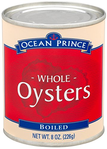 Ocean Prince Boiled Oysters, 8-Ounce Cans (Pack of 12)