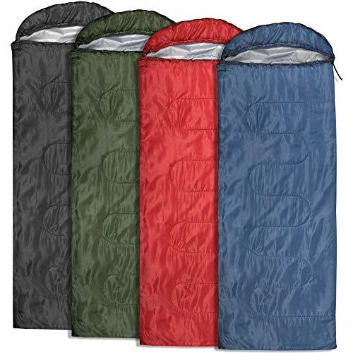 20 Pack Bulk Sleeping Bags, Envelope Sleeping Bags, 4 Seasons Warm or Cold Lightweight Indoor Outdoor Sleeping Bags for Adults, Backpacking, Camping (Envelope Sleeping Bags)