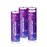 Deleepow AA Rechargeable Batteries, 4 Counts 1.5V Lithium Batteries Cell 3200mWh Long Lasting Rechargeable AA Batteries - Storage Boxes Included