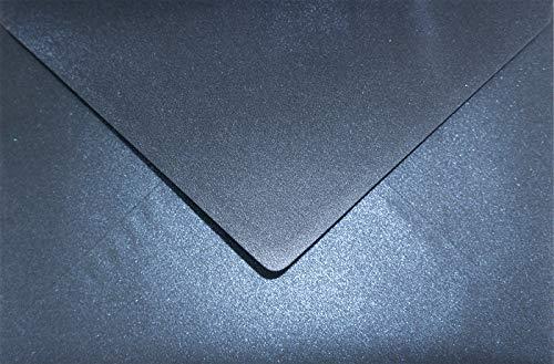 25 Perlmutt-Dunkel-Blau DIN C5 Briefumschläge 162x229 mm Aster Metallic Queens Blue Spitzklappe Perlmutt-Glanz-Kuverts groß für Hochzeits-Einladungen Danksagungskarten