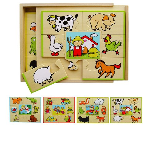 Sapin Malin - SM58512 - Puzzle - Coffret 4 Puzzles